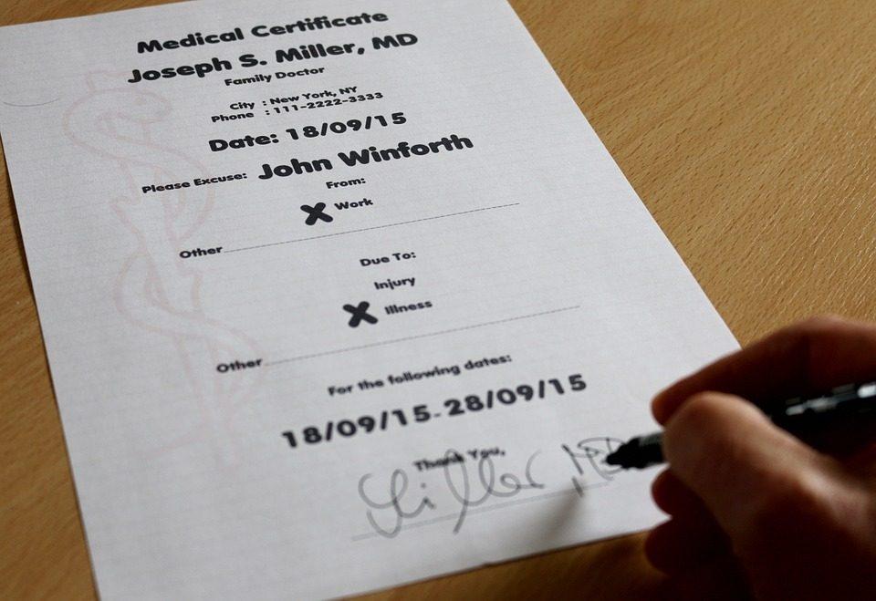 Zwolnienie lekarskie z pracy